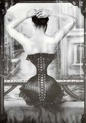 Corset fiction tight laced, locked